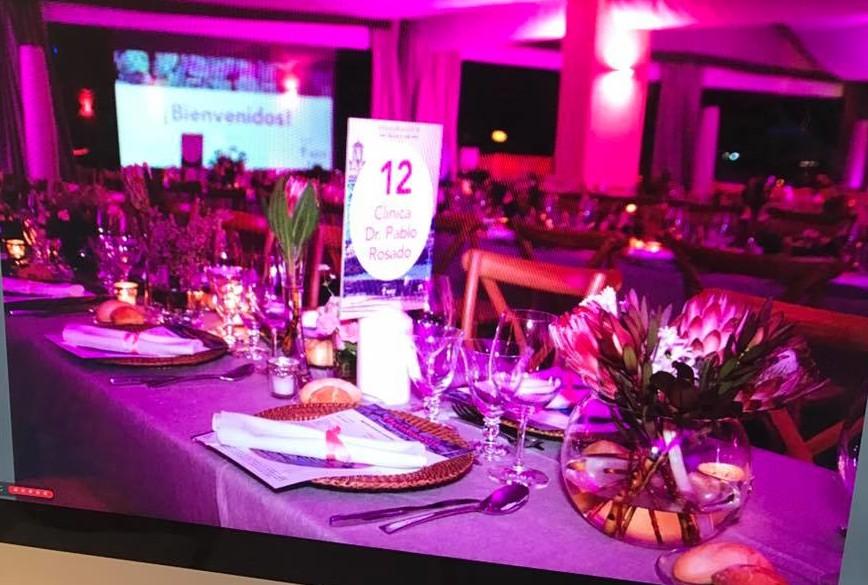 Detalle de como estaban decoradas de las mesas